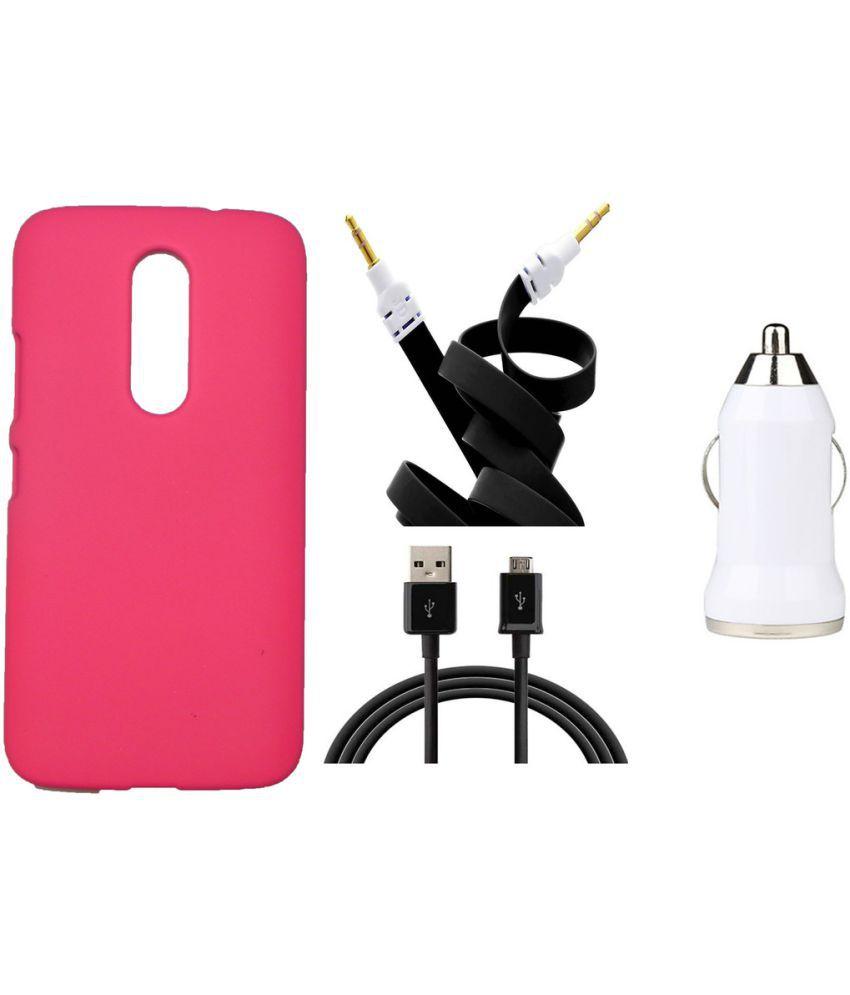 Motorola Moto M Plain Cases Toppings - Pink