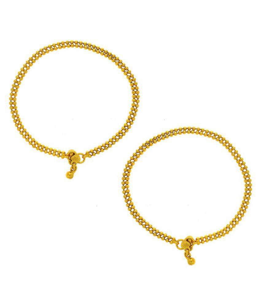 Anuradha Art Golden Finish Designer Classy & Trendy Delicate Anklet/Payal For Women