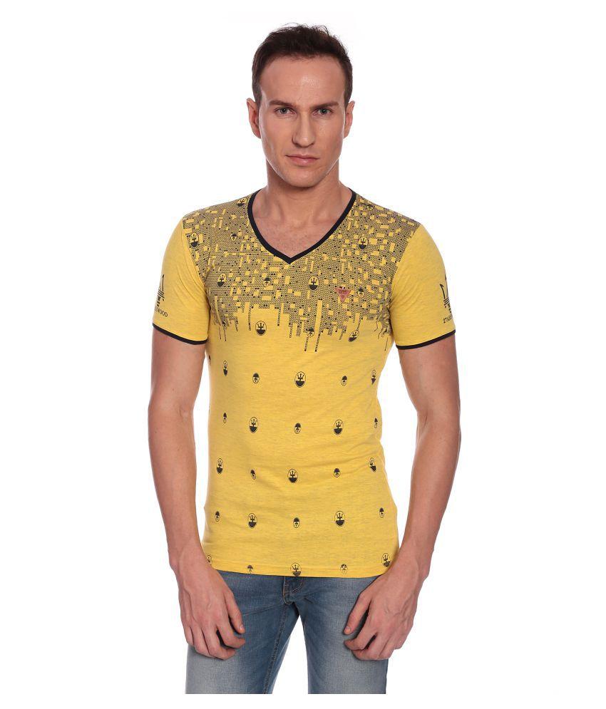 27Ashwood Yellow V-Neck T-Shirt