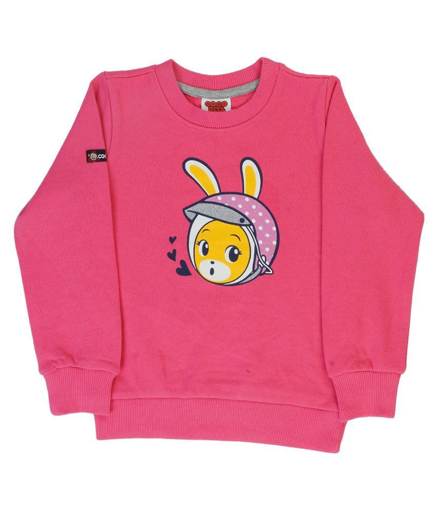 Indirang Pink Sweat T-shirt for Girls