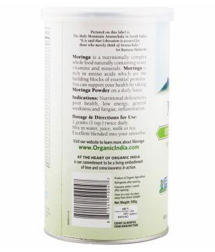 Organic India Moringa Powder 100 gm Pack of 3: Buy Organic