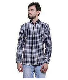 N&CM Blue Casual Slim Fit Shirt