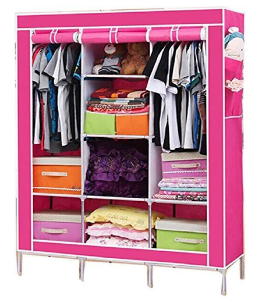 Wardrobe   Portable Storage Organizer Wardrobe Closet Non Woven Canvas  Folding Fabric Wardrobe ...