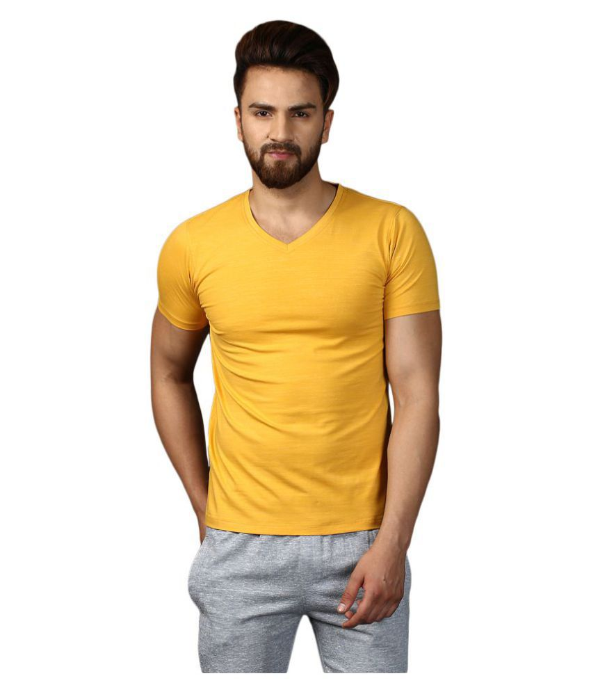 MKH Yellow V-Neck T-Shirt