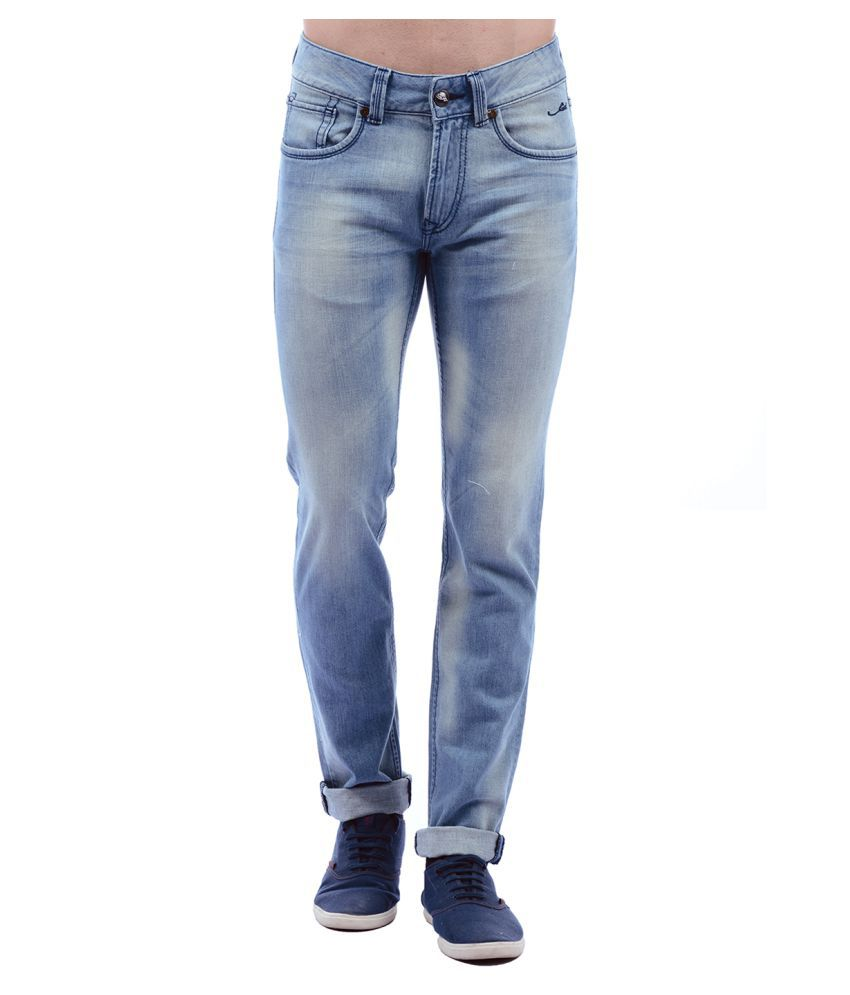 Ed Hardy Blue Regular Fit Jeans
