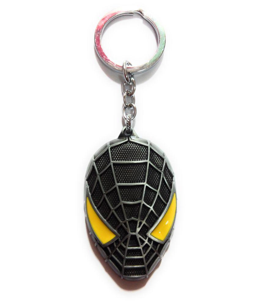 Moto Biker Spiderman Metalic Keychain