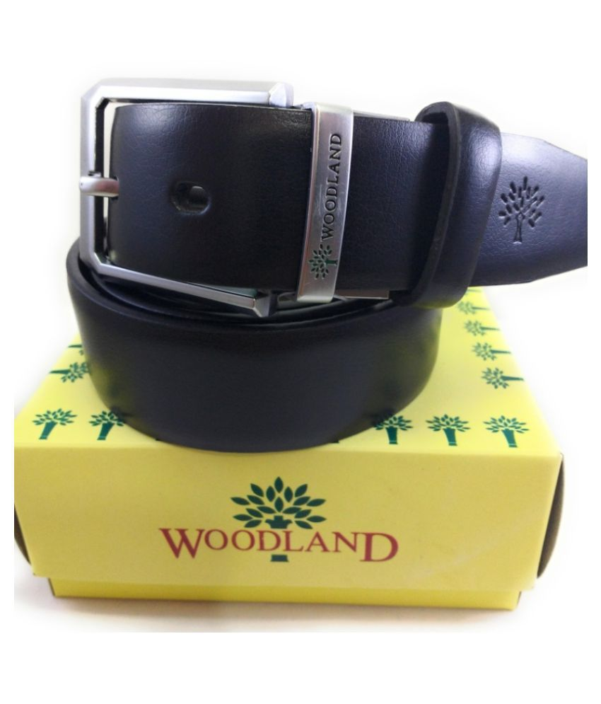Woodland Imports Black Leather Casual Belts