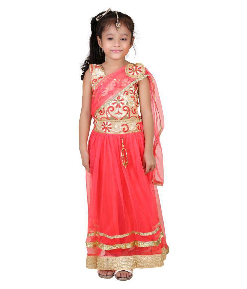 9452efe10600 Qeboo Embroidered Girls Lehenga Choli And Dupatta Set - Buy Qeboo  Embroidered Girls Lehenga Choli And Dupatta Set Online at Low Price -  Snapdeal