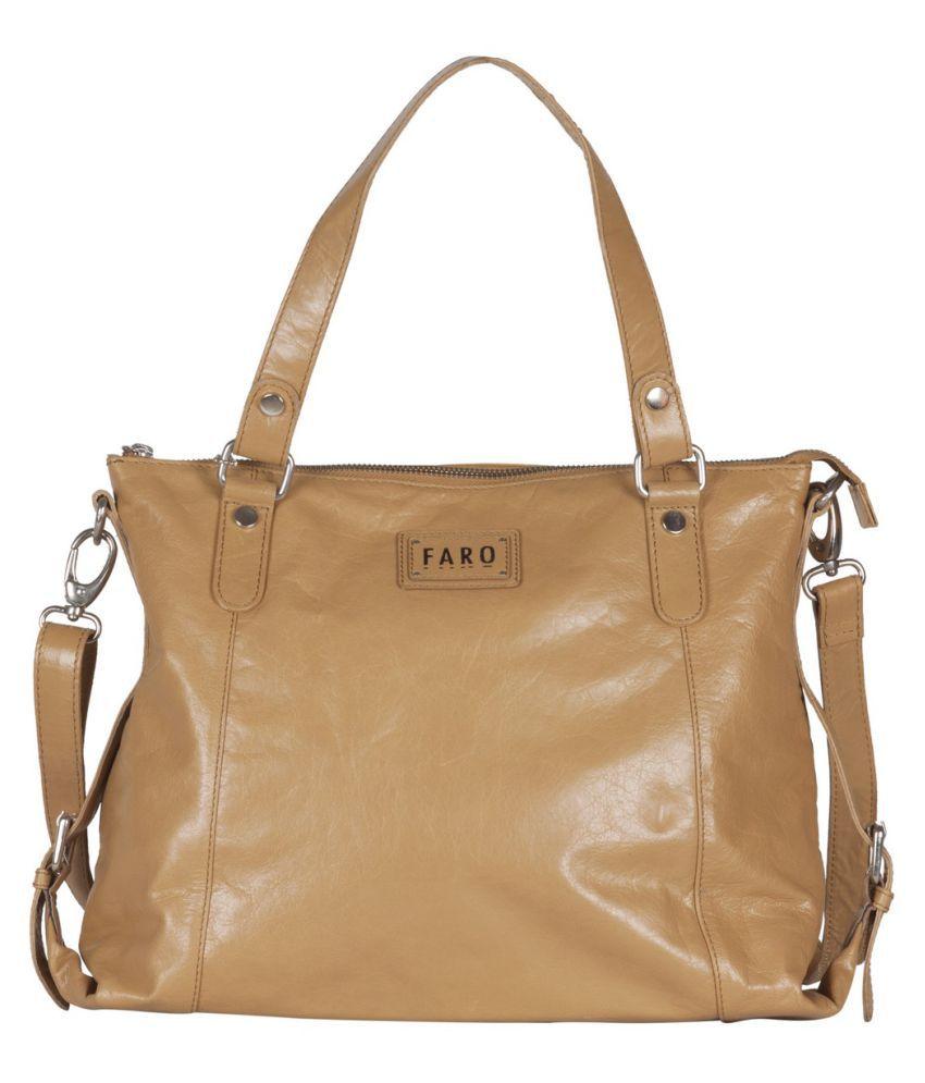 Faro Beige Pure Leather Handbags Accessories