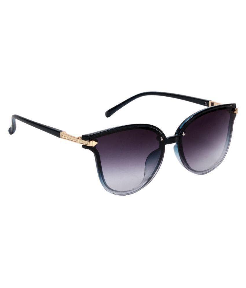 Di tutti Blue Oversized Sunglasses ( D1746 )