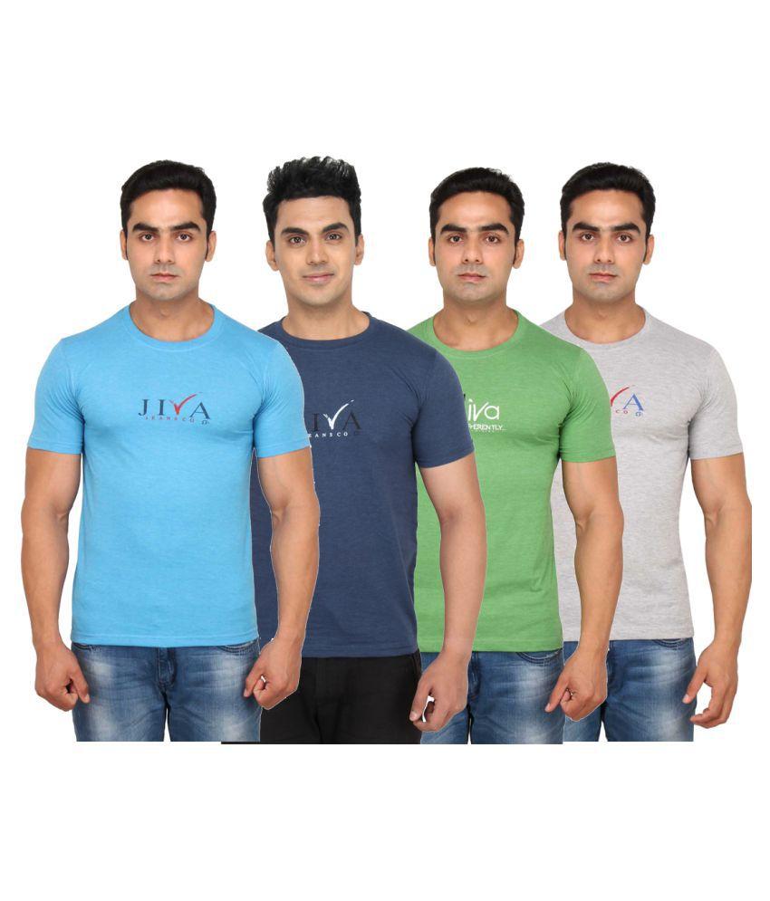 JIVA Multi Round T-Shirt Pack of 4