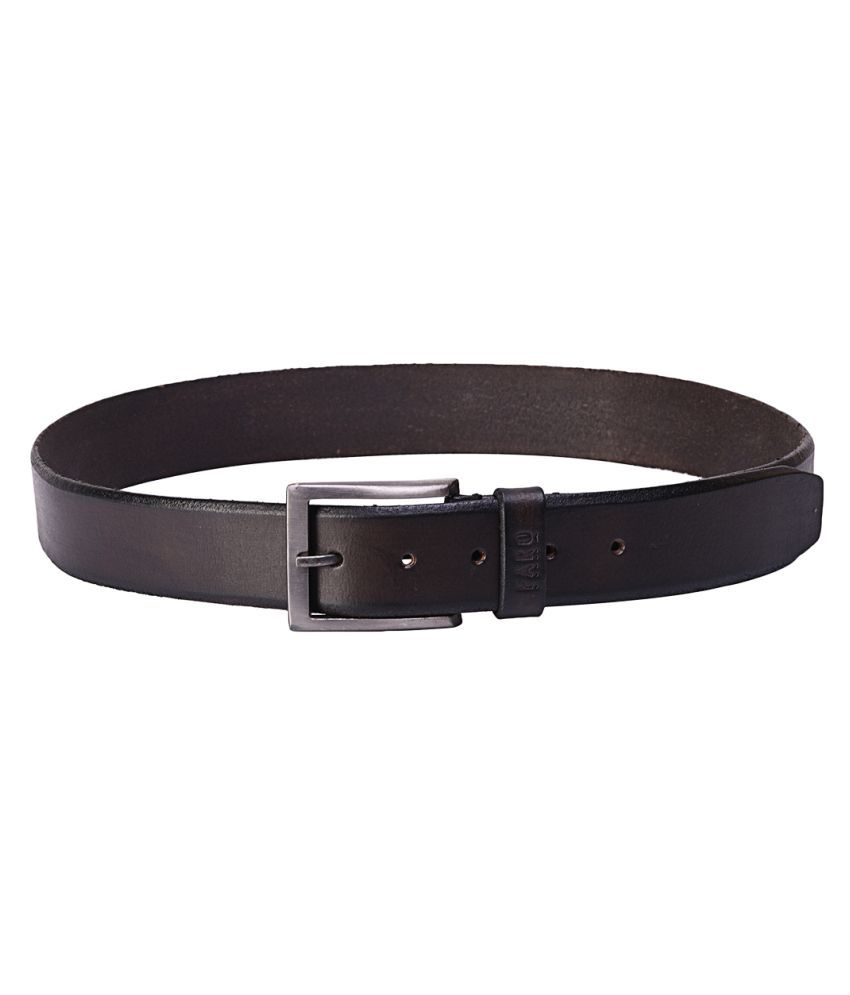 Faro Brown Leather Formal Belts
