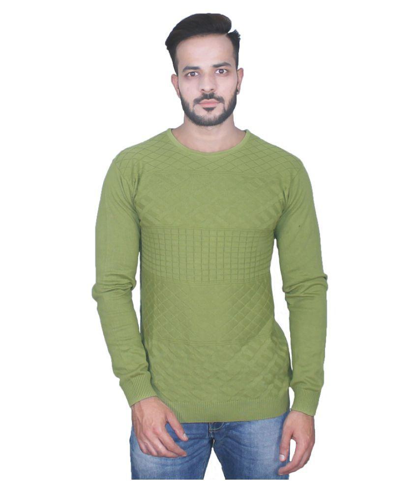 CZARFIT Green Round T-Shirt