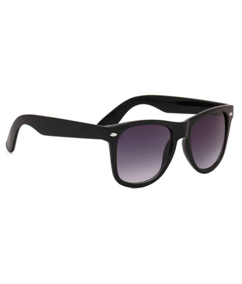 Elligator Black Wayfarer Sunglasses ( ELGS401 )