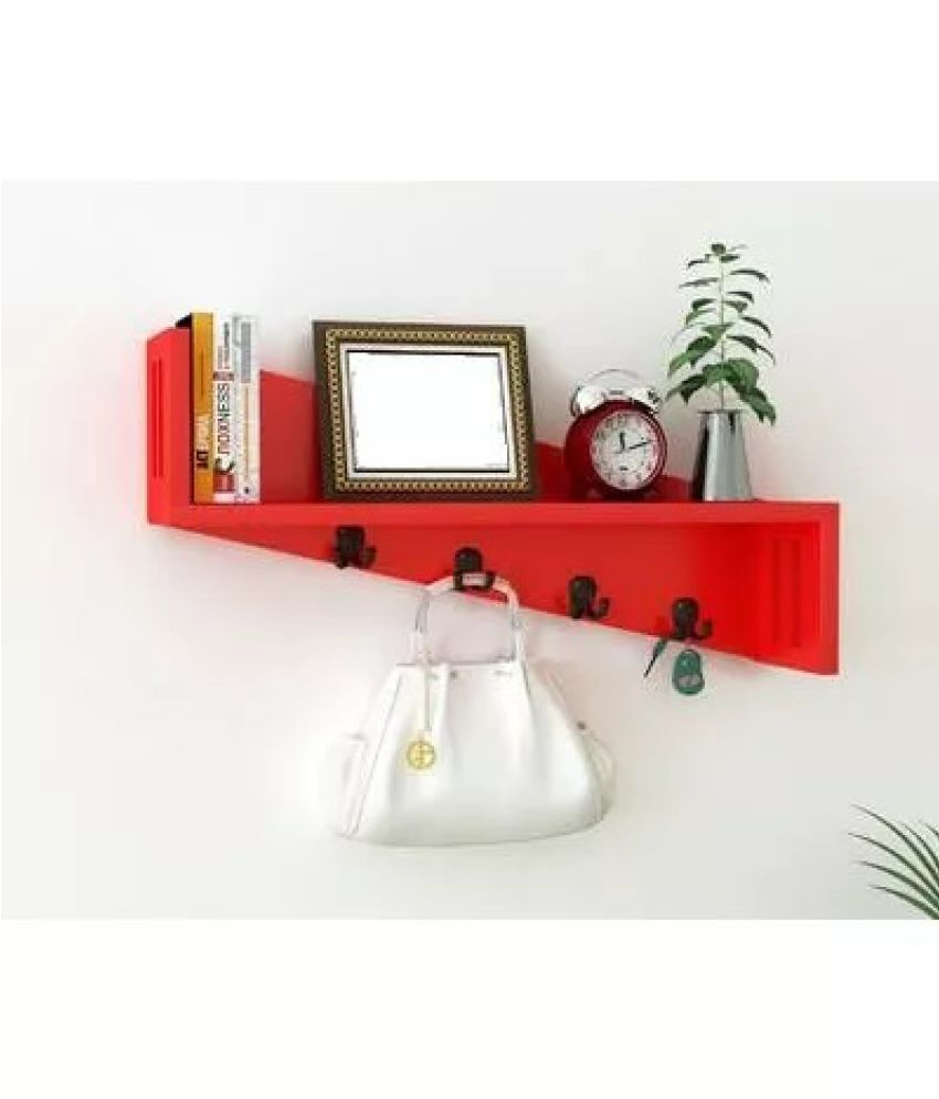 Onlineshoppee Floating Shelf/ Wall Shelf / Storage Shelf/ Decoration Shelf Red - Pack of 1