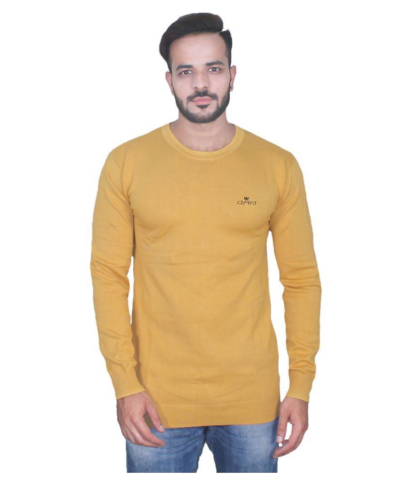 CZARFIT Yellow Round T-Shirt