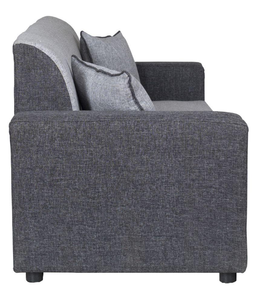 Gioteak Bulgariya 5 seater sofa set in black grey color 3+1+ ...