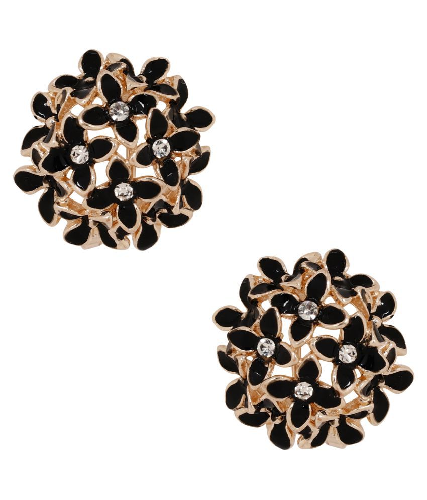 Jewels Gold Alloy Sparkling Comfy Modish Earrings Set For Women & Girls
