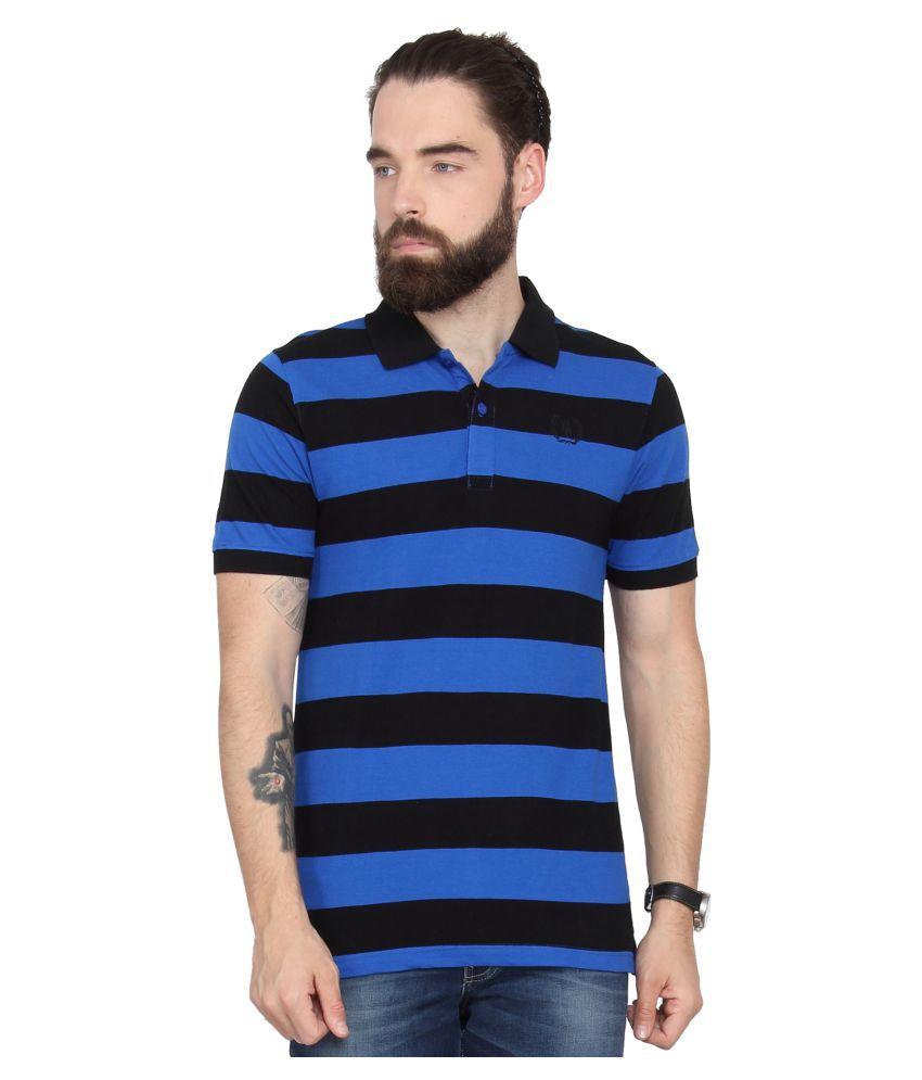 Urban Nomad Blue V-Neck T-Shirt