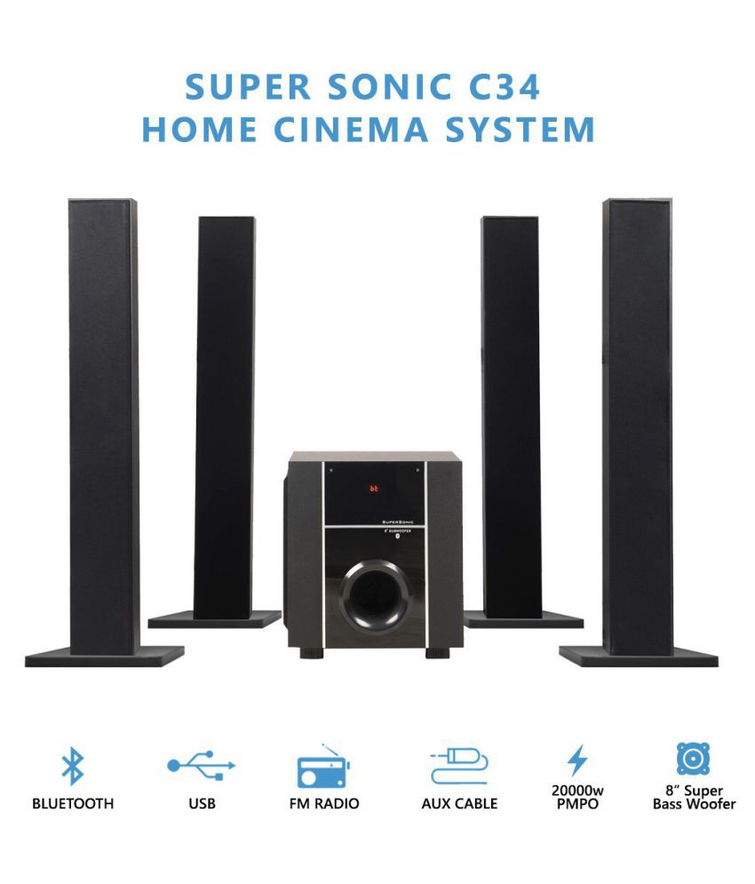 buy black cat supersonic c34 home cinema system 4 1. Black Bedroom Furniture Sets. Home Design Ideas