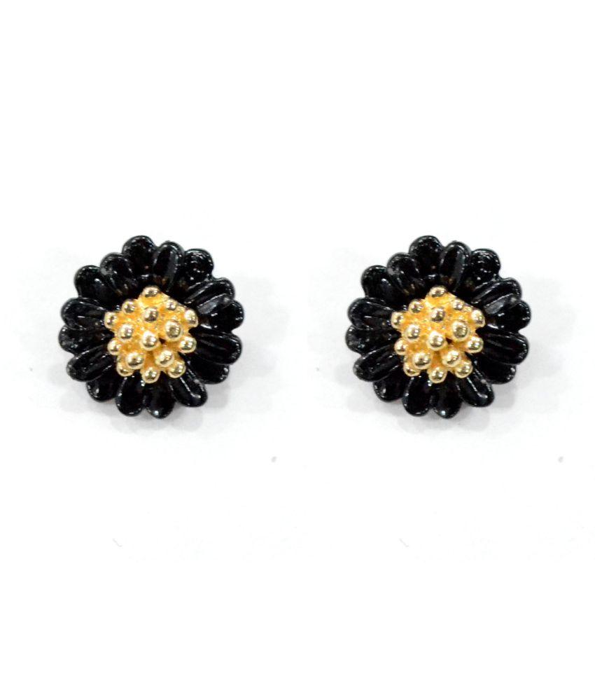 Shimarra Black Lovely Daisy Stud Earring