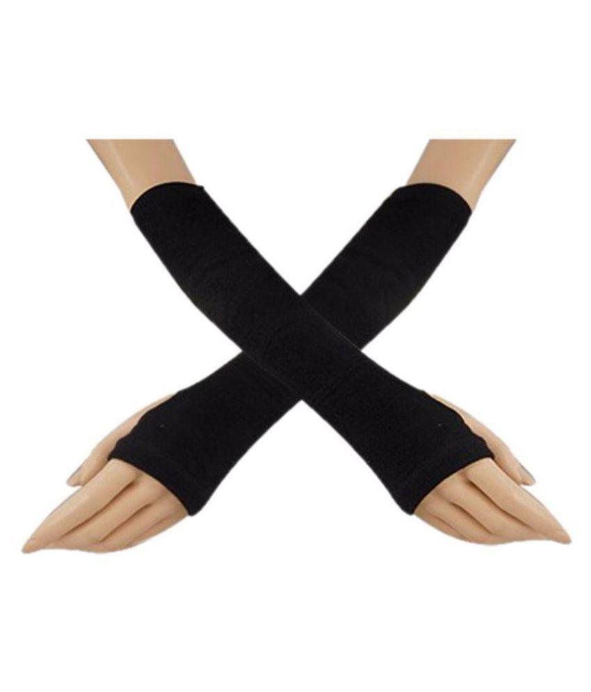 N2S90066 Long Sleeves UV Protected Black Glove Pack of 1