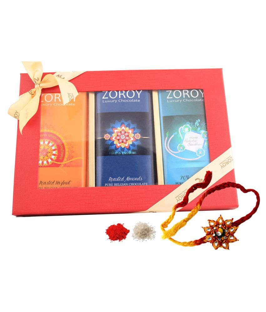 Zoroy Luxury Chocolate Assorted Chocolate Box Rakhi and Rakshabandhan chocolate Gift 800 gm