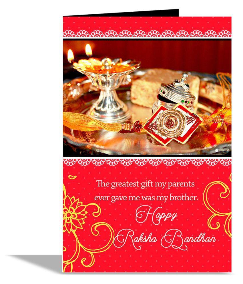 happy raksha bandhan greeting card buy online at best