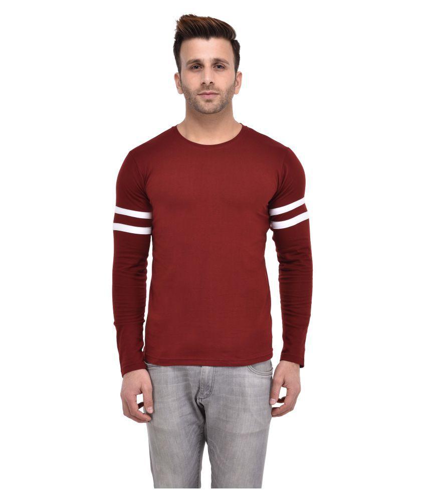 Cocina Maroon Round T-Shirt