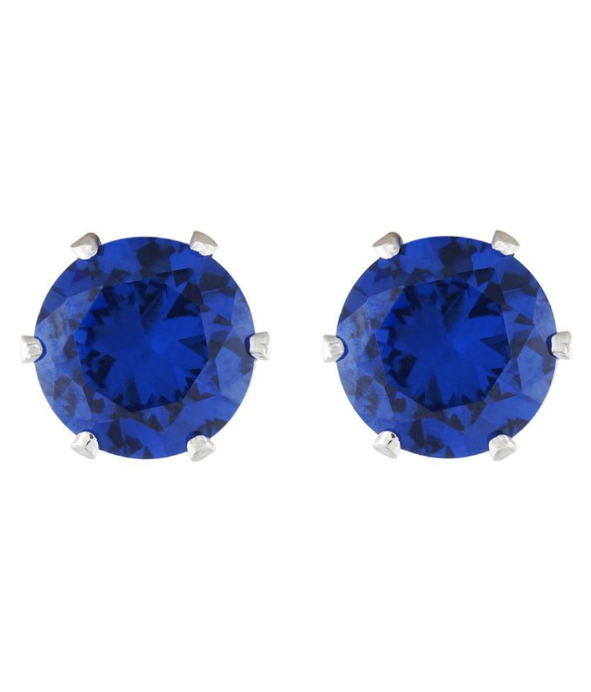 One Stop Fashion Blue colour Round design  Studs for girls and women