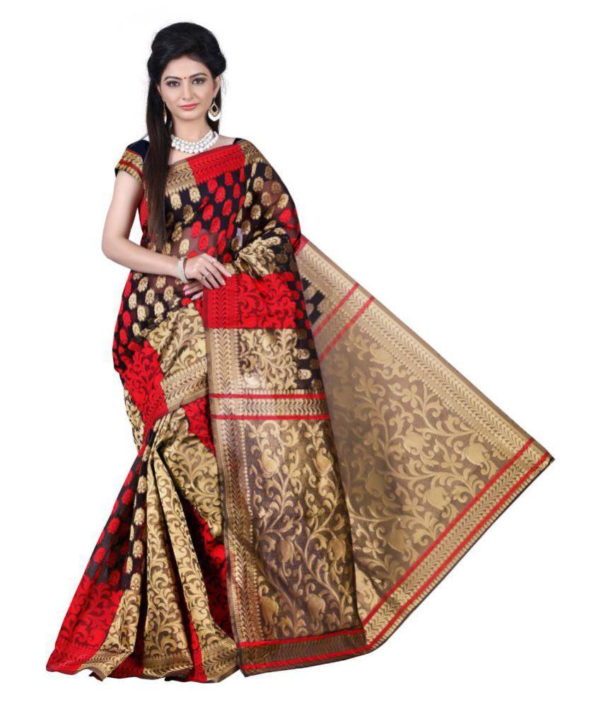 KAD Creations Multicoloured Banarasi Silk Saree