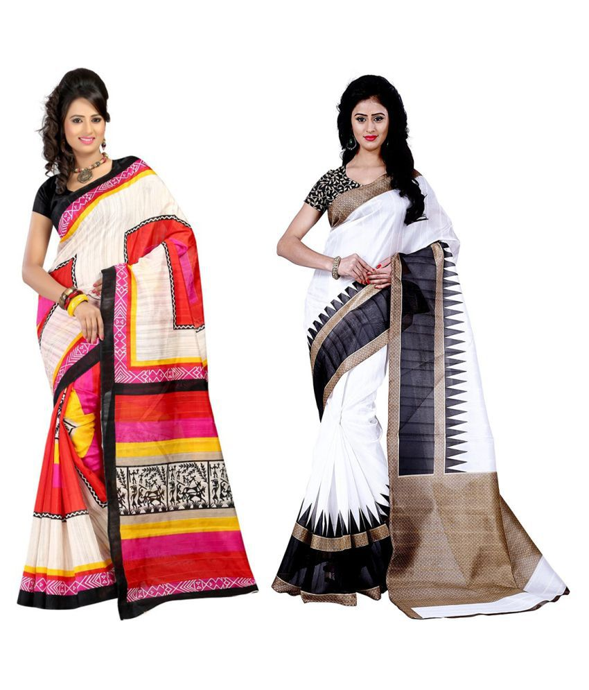 Raul Zone Multicoloured Bhagalpuri Silk Saree Combos