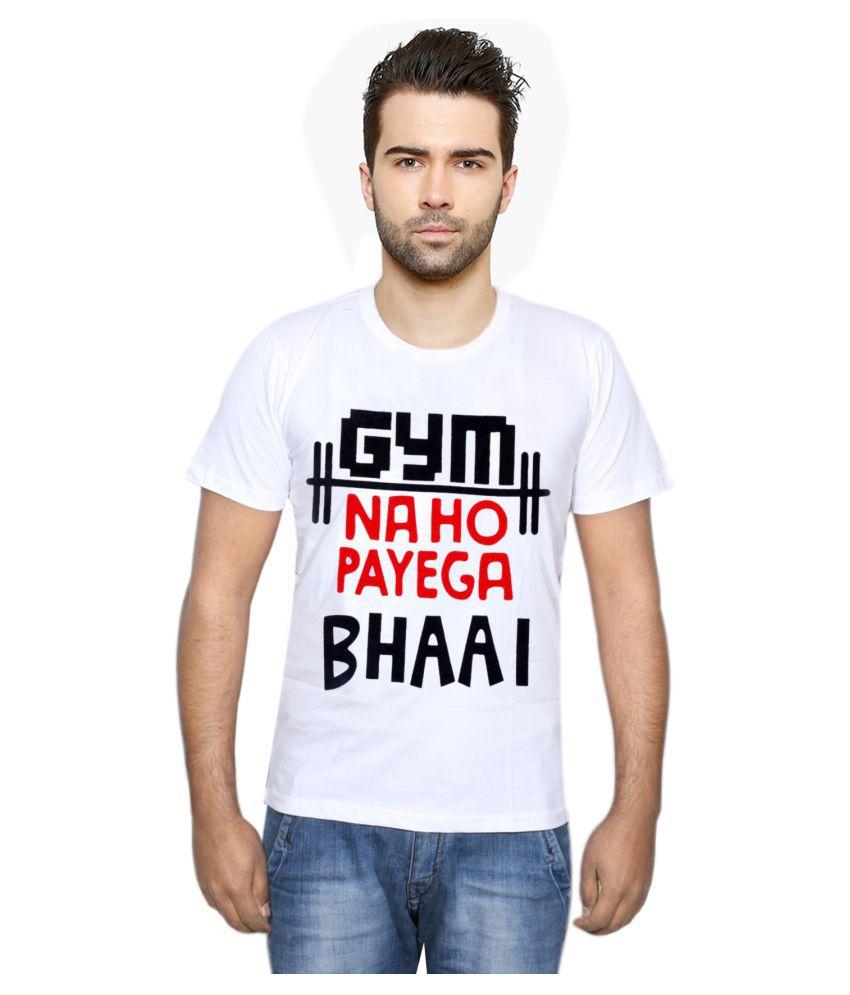 IndiWeaves White Round T-Shirt