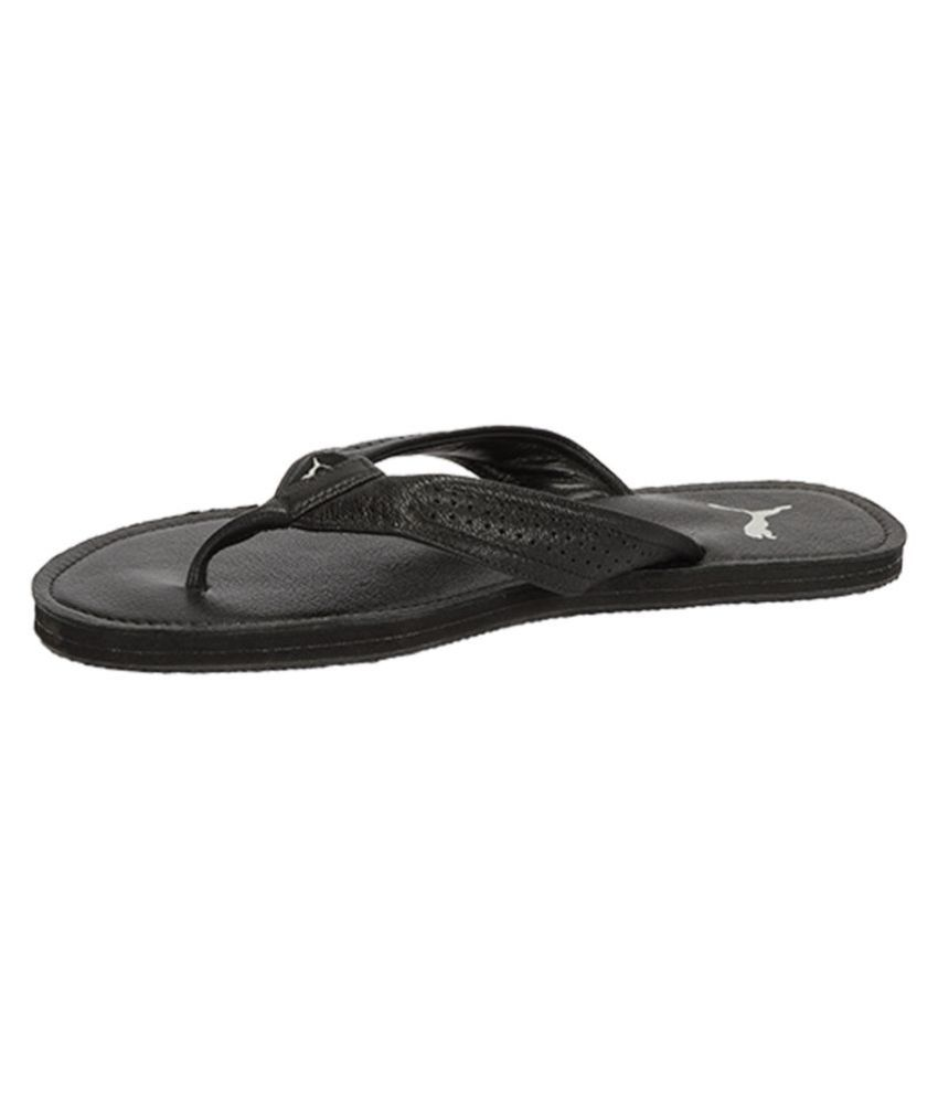 Puma Java Leather Slipper Black Thong Flip Flop Price in India- Buy Puma  Java Leather Slipper Black Thong Flip Flop Online at Snapdeal 9e9244e4c