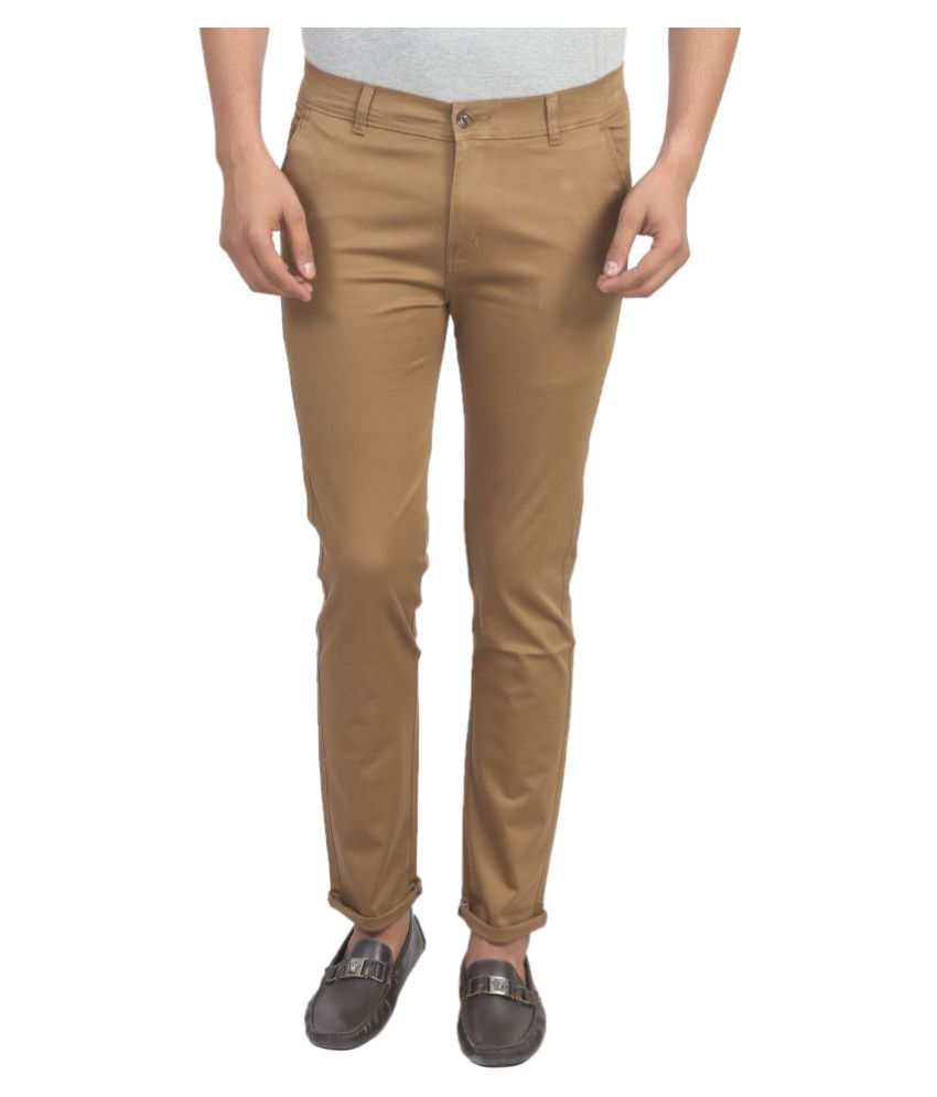 X-CROSS Khaki Slim -Fit Flat Chinos
