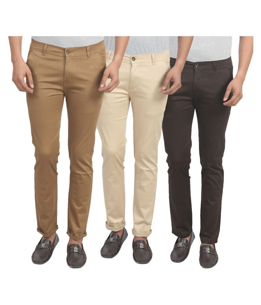 X-CROSS Multi Slim -Fit Flat Chinos