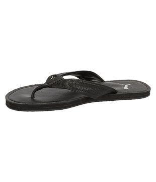 b33c76e3b Puma Java Leather Slipper Black Thong Flip Flop