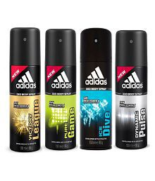 Adidas Victory,Pure Game,Ice Dive,Dynamic Plus 150 ml Deodorant - Pack of 4