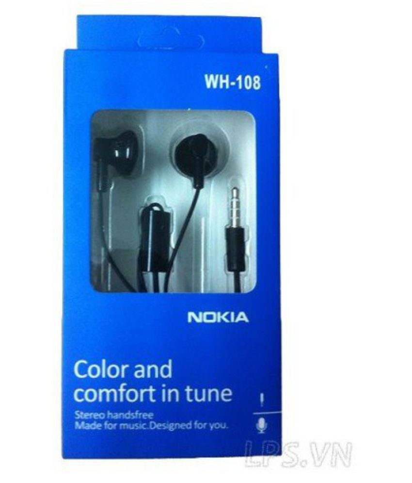 377efef47b4 Nokia Nokia WH-108 Wired Headset In Ear Wired Earphones With Mic - Buy Nokia  Nokia WH-108 Wired Headset In Ear Wired Earphones With Mic Online at Best  ...
