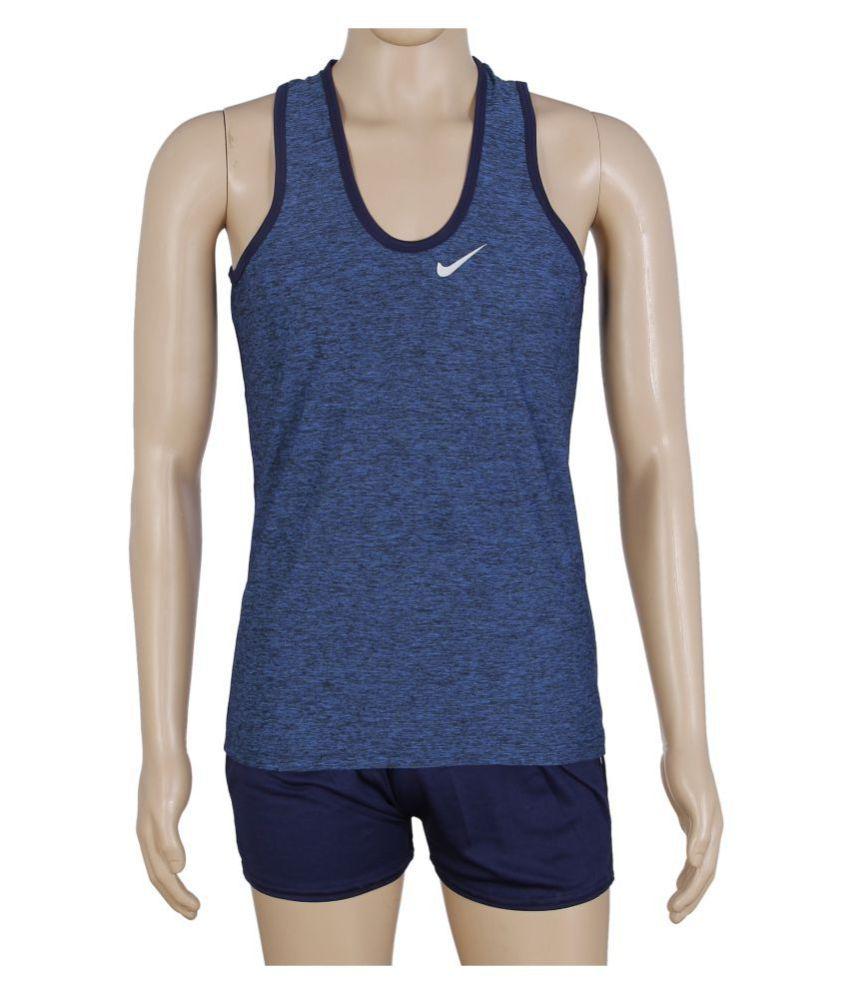 RetailWorld Blue Polyester T-Shirt