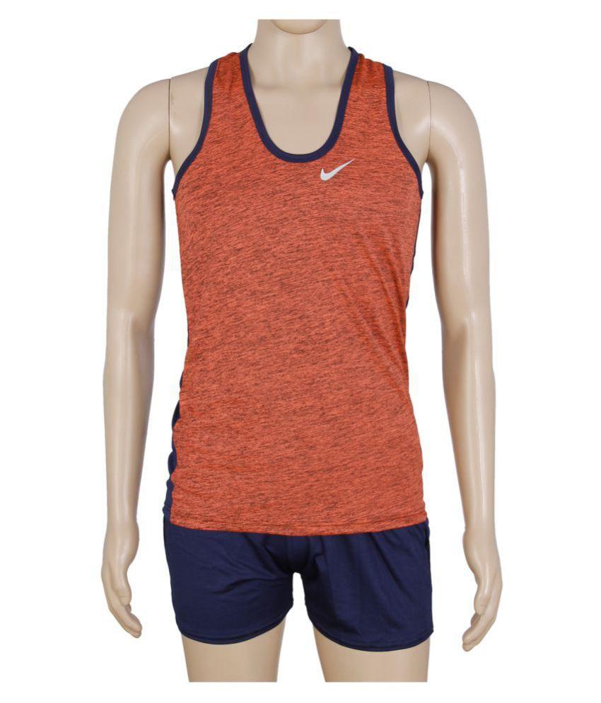 RetailWorld Orange Polyester T-Shirt