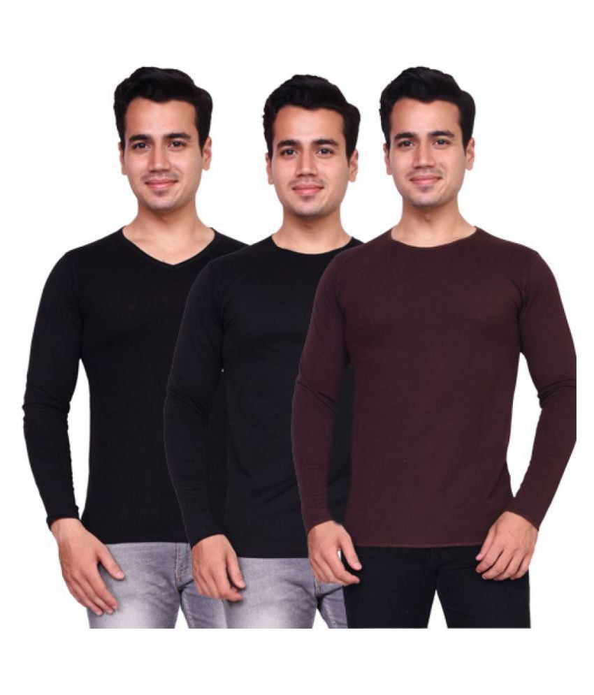 Voeux Multi Round T-Shirt Pack of 3