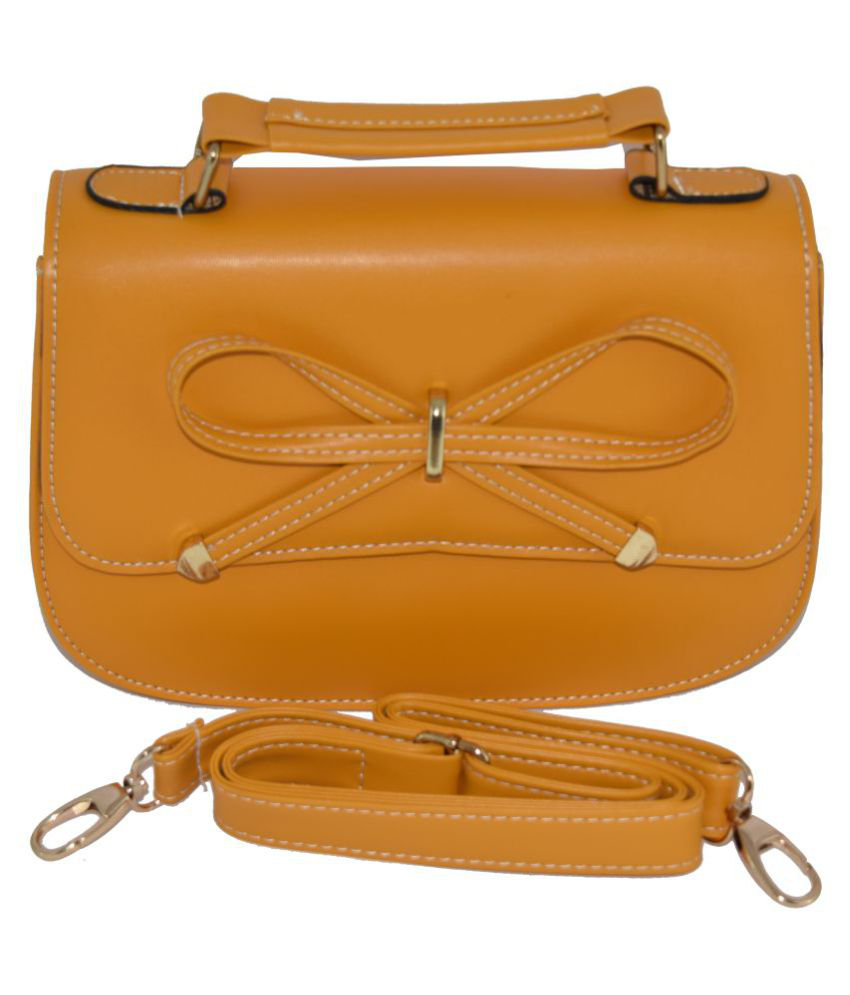 wooo Tan Non Leather Sling Bag