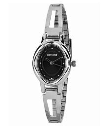 sonata upgrades everyday 8085sm black dial analog watch for women
