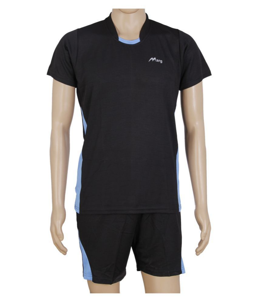 RetailWorld Black Polyester T-Shirt Single Pack
