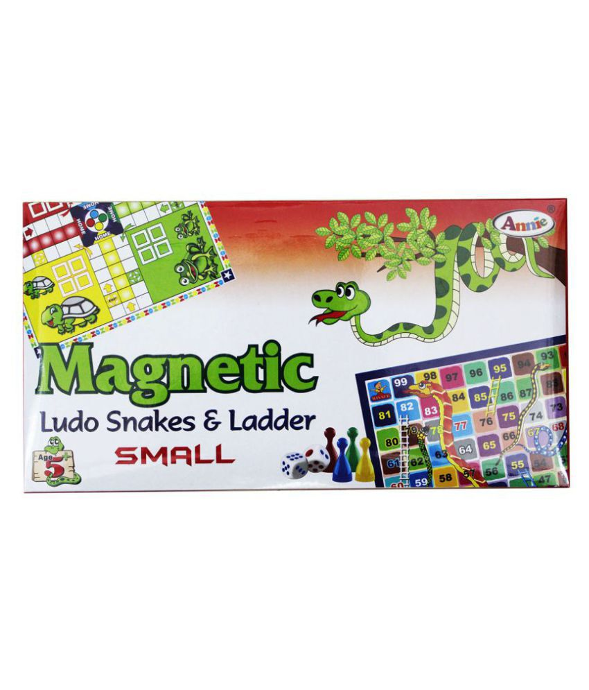 Toys Factory Magnetic Ludo & Snakes & ladder Small Board Game
