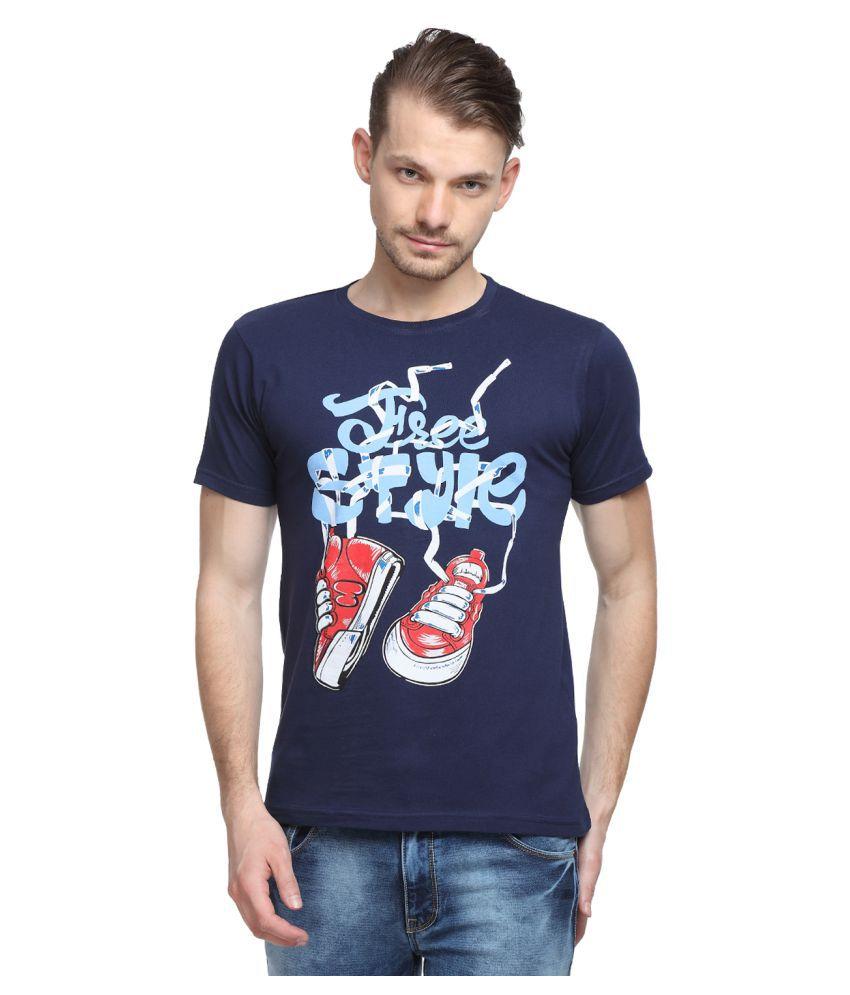 SharkTribe Navy Round T-Shirt