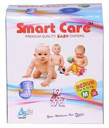 SAIFY HEALTHKART PRESENTS SMART CARE SUPER ABSORBENT, PULL UP, Skin friendly, Premium Quality MEDIUM Size Baby DIAPER 90 PCs.