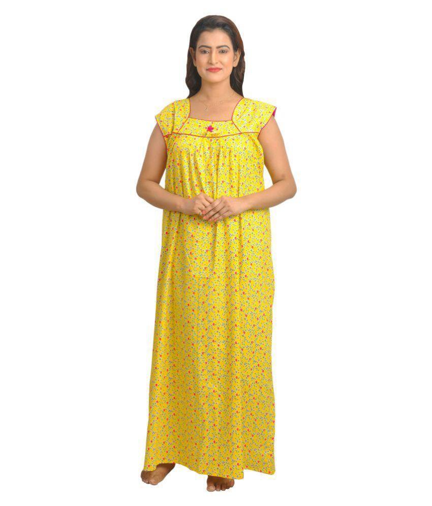 Piyali's Creation Women's Cotton Nighty & Night Gowns