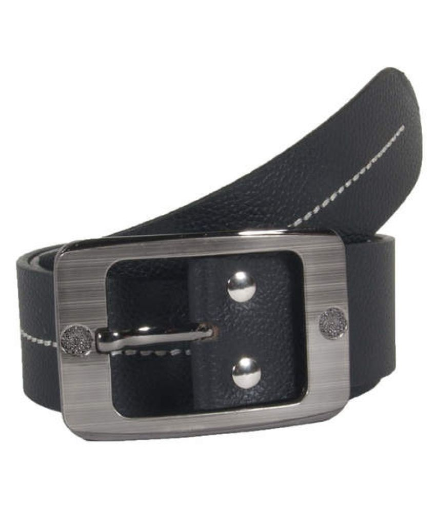 Snoby Black Leather Casual Belts